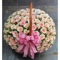 Корзина 125 роз
